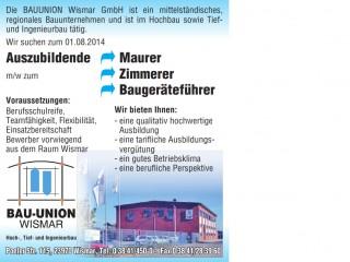 Bauunternehmen Wismar bauunion wismar gmbh stellenanzeigen hochbau tiefbau