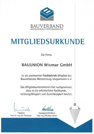 Bauunternehmen Wismar bauunion wismar gmbh mitgliedschaften hochbau tiefbau